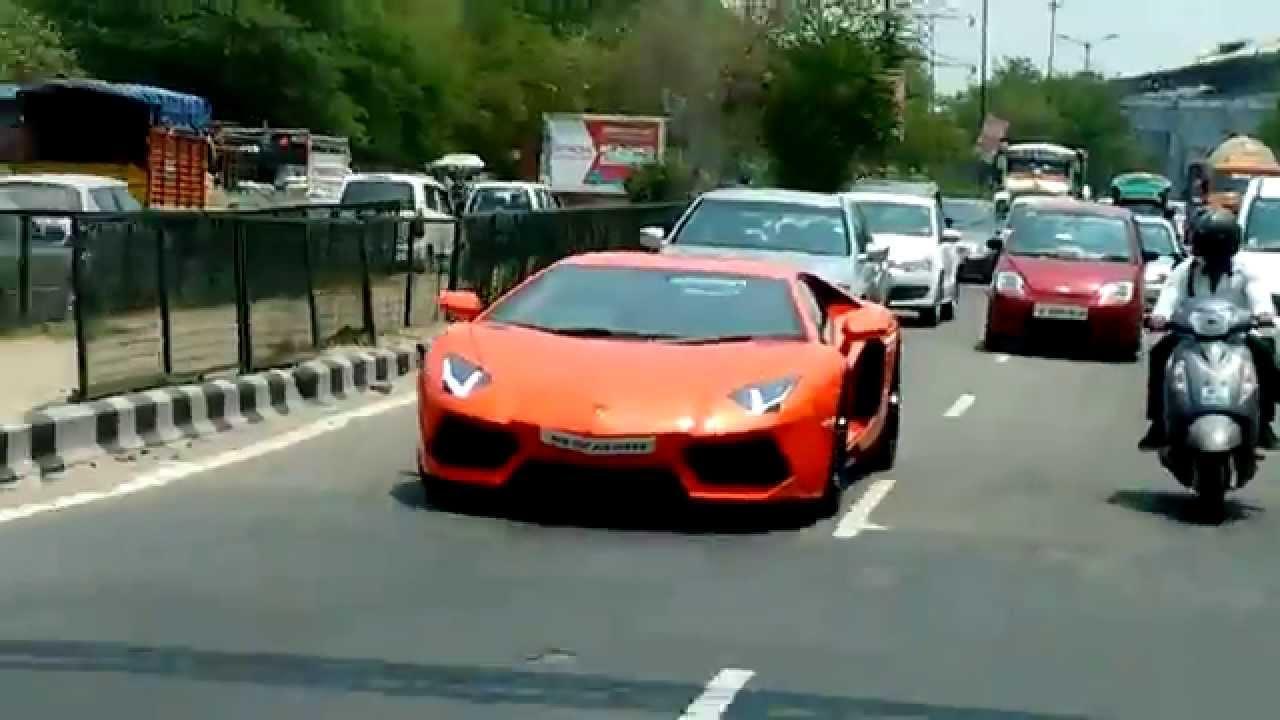 Lamborghini Aventadore In Delhi Near Badarpur Youtube