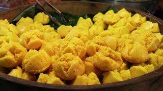 Thai Street Food & Desserts at a Fair in Thailand. Street Food Tour at a Market in Thailand