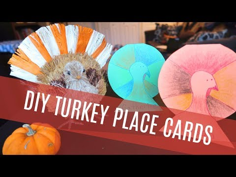 DIY Thanksgiving Place Cards: Easy Turkey Craft Tutorial