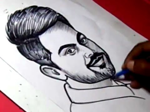 How to draw indian cricketor virat kohli drawing for kids