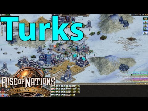 Rise Of Nations : Extended Edition Eight Player Skirmish Free For All Gameplay (Turks)