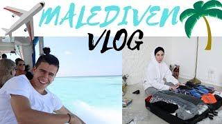 Unsere Reise auf die Malediven ! 10 Stunden Flug & Ankunft 🏖 URLAUB VLOG