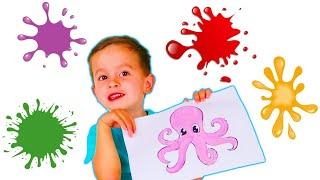 Животные для детей | Учим Животных | 3Д Анимация | Учим Цвета с 3Д Животными для малышей