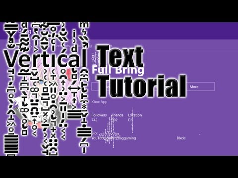One | How To Get Vertical Text In Your Name - YouTube