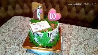 Торт на 10 лет свадьбы