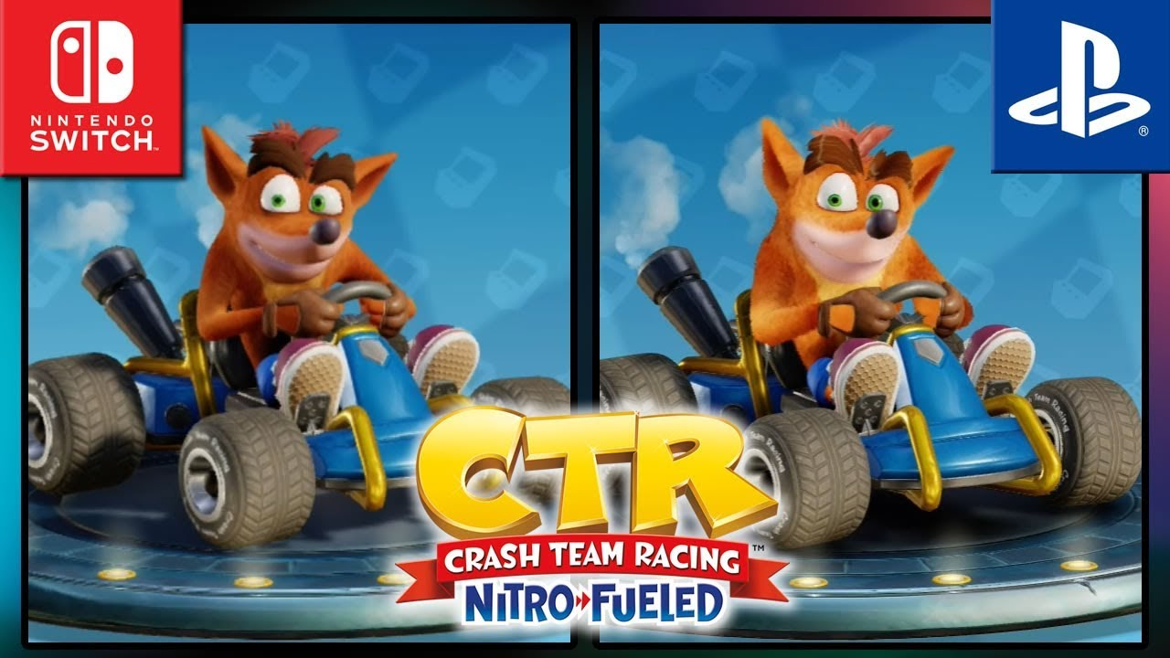 Crash Team Racing Nitro-Fueled | Switch VS PS4 | Graphics Comparison & Frame Rate Test