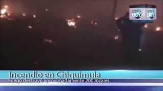 Fuego consume 350 locales de artesanías de Esquipulas