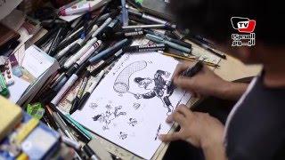 كاريكاتير  هكذا يرى «مخلوف» حملات القبض العشوائي