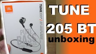 JBL TUNE205 BT pure bass - bluetooth headphones - Unboxing