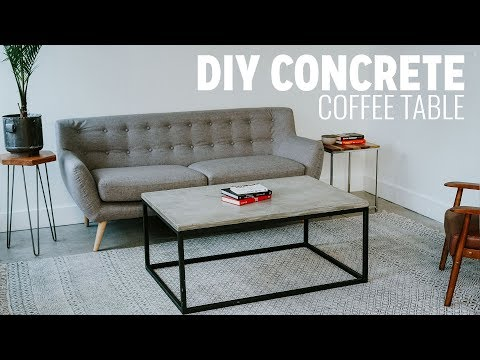 DIY Concrete Coffee Table | Beginner Mistakes Video
