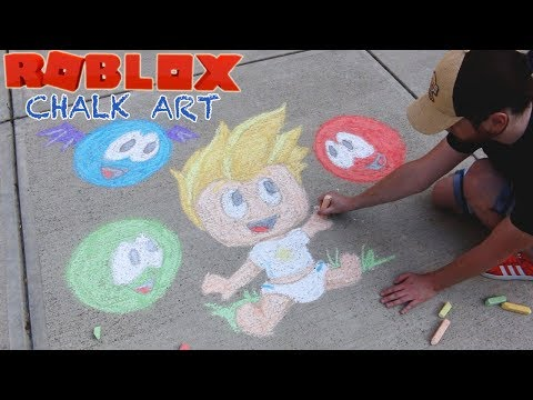 Roblox Chalk Art - Baby Alan with Meeps in MeepCity - Gamer Chad Alan