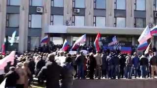 5 апреля 2014 Русская весна попытка взятия Донецкого Горсовета