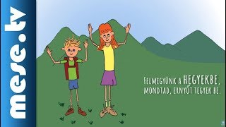 Kék Katica - Felmegyünk a hegyekbe (gyerekdal, animáció) | MESE TV