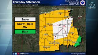 Oklahoma Weather Forecast: Thursday, Jan. 3, 2019