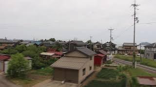 京都丹後鉄道宮舞線KTR700形気動車西舞鶴行き丹後由良→丹後神崎車窓