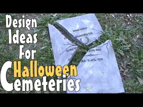 Spooktacular Diy Halloween Decoration Ideas Inspirations For Making Prop Tombstones Gravestones