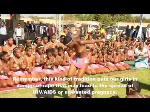 Reed Dance   Zulu Virgins Dance Nakd To Entertain South African President