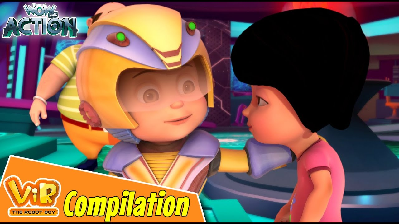 Best Episodes Of Vir The Robot Boy | Cartoon For Kids | Compilation 77 | Wow Kidz Action