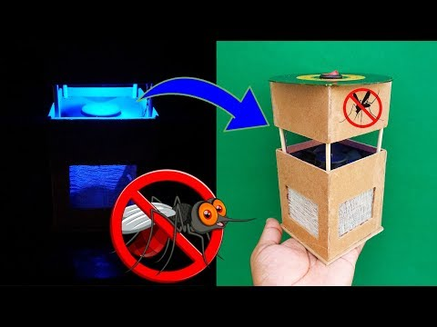 How To Make A Mosquito Killer - Homemade Mosquito Killer Science Project - Mosquito Killer Lamp DIY - 동영상