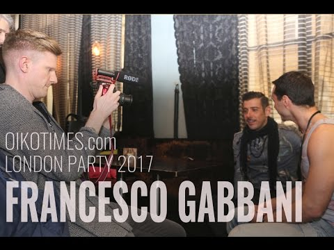 oikotimes.com: interview with Francesco Gabbani (Italy 2017) at London Party
