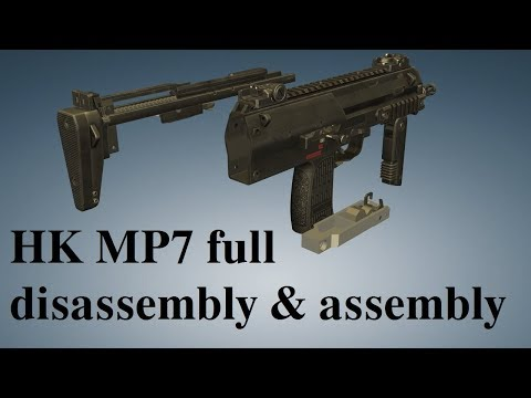 HK MP7: full disassembly & assembly