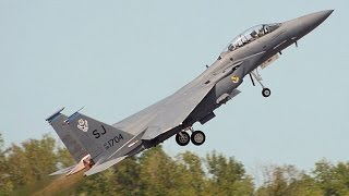 POWERFUL AIRCRAFT !!! US Air Force F-15 Military Aircraft takeoff on Full Afterburner