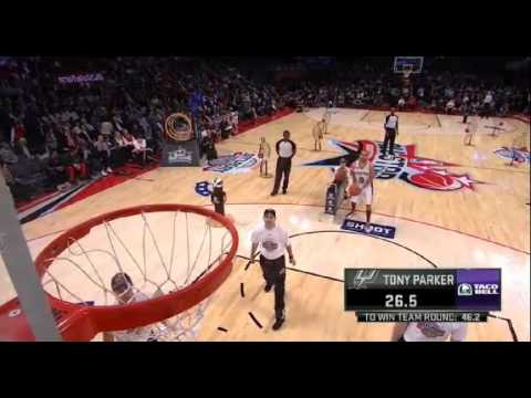 Tony Parker Taco Bell Skills Challenge 2013 NBA All Star Weekend