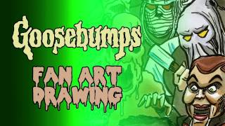 Goosebumps Fan Art | Drawing monsters and talking about books!