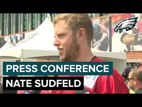 nate-sudfeld-talks-about-carson-wentz's-tenacity-&-qb-competition- -eagles-press-conference