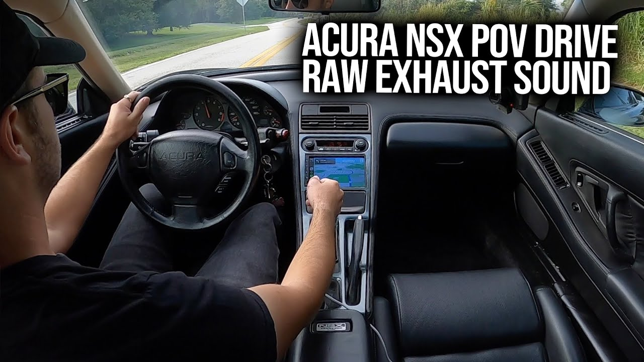 My Morning Coffee Run   Acura NSX POV Drive, Raw Exhaust Sounds