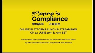 Silence Is compliance 2pm BST