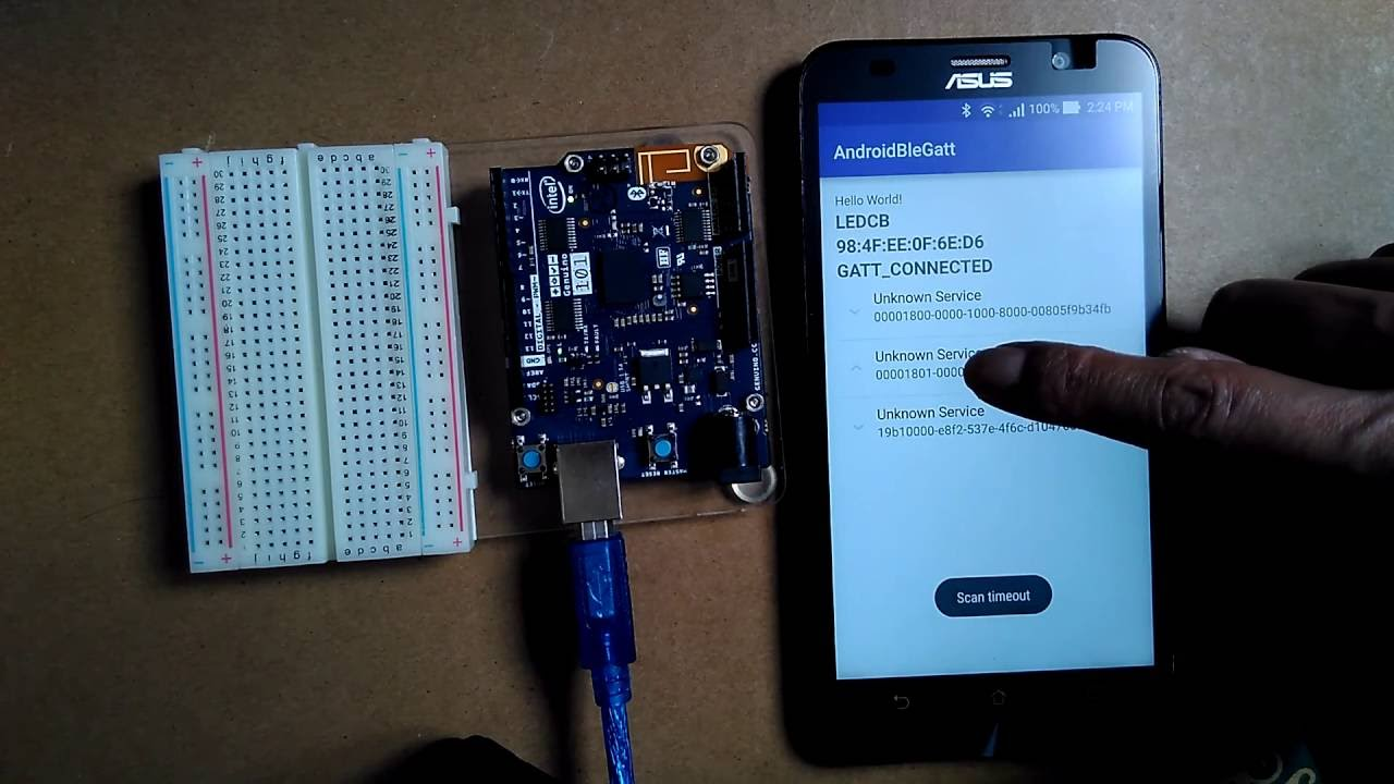 Bluetooth LE example - connect to Bluetooth LE device and display GATT  Services