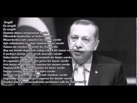 Sevgili.. En sevgili.. Ey sevgili.. Recep Tayyip Erdoğan