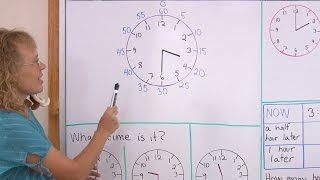Tell time to the whole and half hours - minute hand introduced