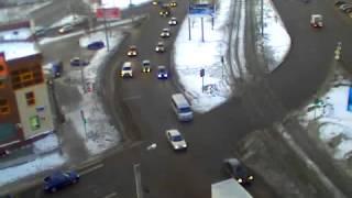 Падение метеорита в Челябинске. Запись с веб-камеры