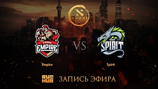 Empire vs Spirit, DAC 2017 CIS Quals, game 2 [V1lat, Faker ]