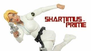 Marvel Legends Sharon Carter Captain America Red Onslaught BAF Wave Toy Action Figure Review