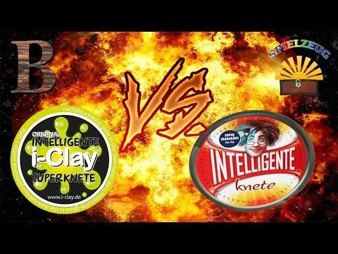 I-Clay Intelligente Superknete vs. Intelligente Knete Super Skarabäus - Knete deutsch Vergleich