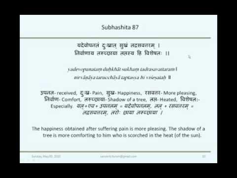 Sanskrit Subhashita Session 7 by Dr  Saroja Bhate on 9th May 2010