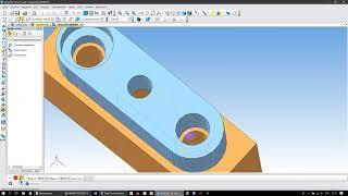 Соединение деталей винтом и штифтом в Компас 3D