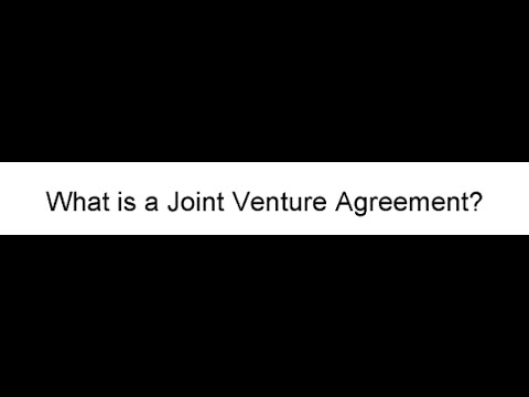 What Is A Joint Venture Agreement? - Youtube