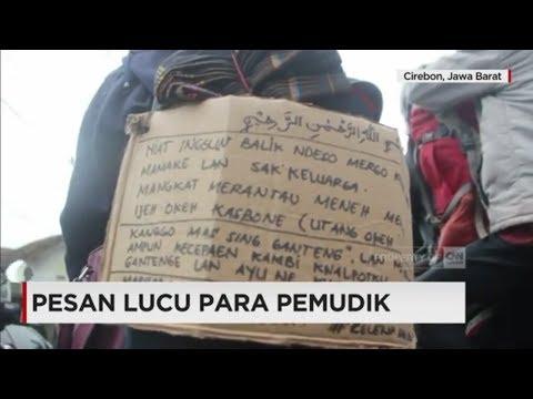 Lucu! Tulisan Pemudik dalam Perjalanan Pulang Kampung - Mudik Lebaran 2017