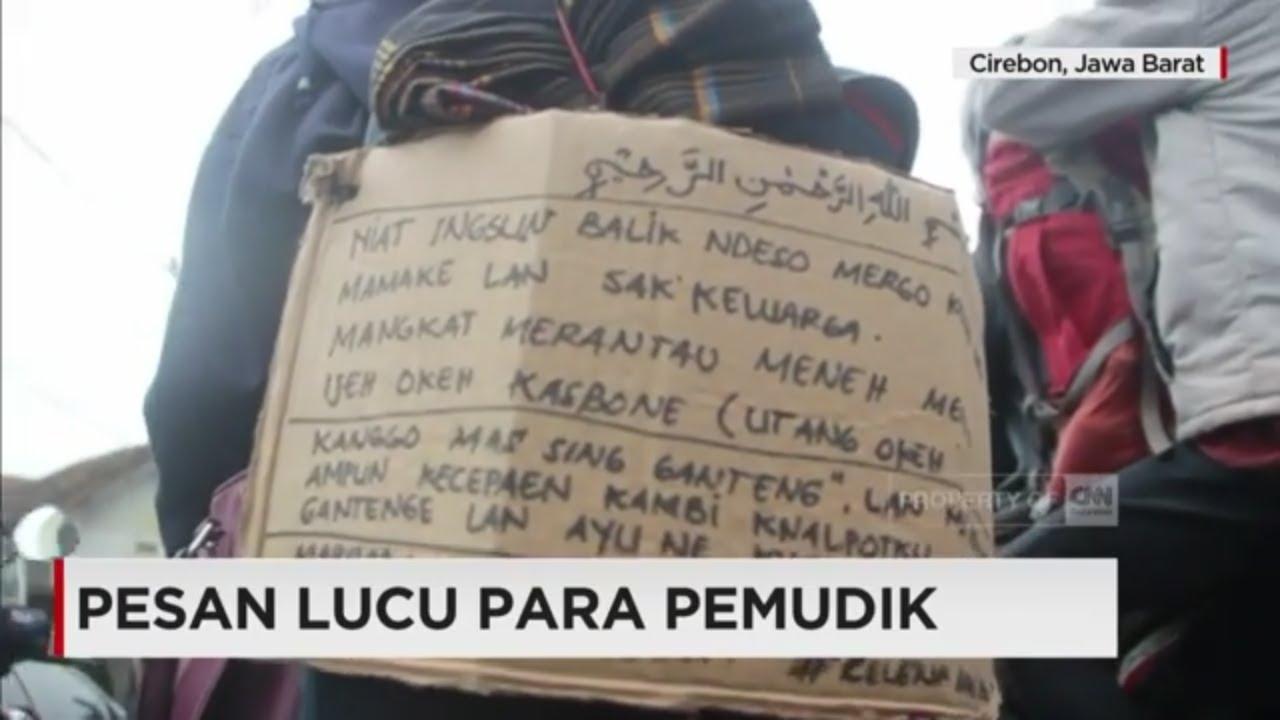 Lucu Tulisan Pemudik Dalam Perjalanan Pulang Kampung Mudik Lebaran 2017