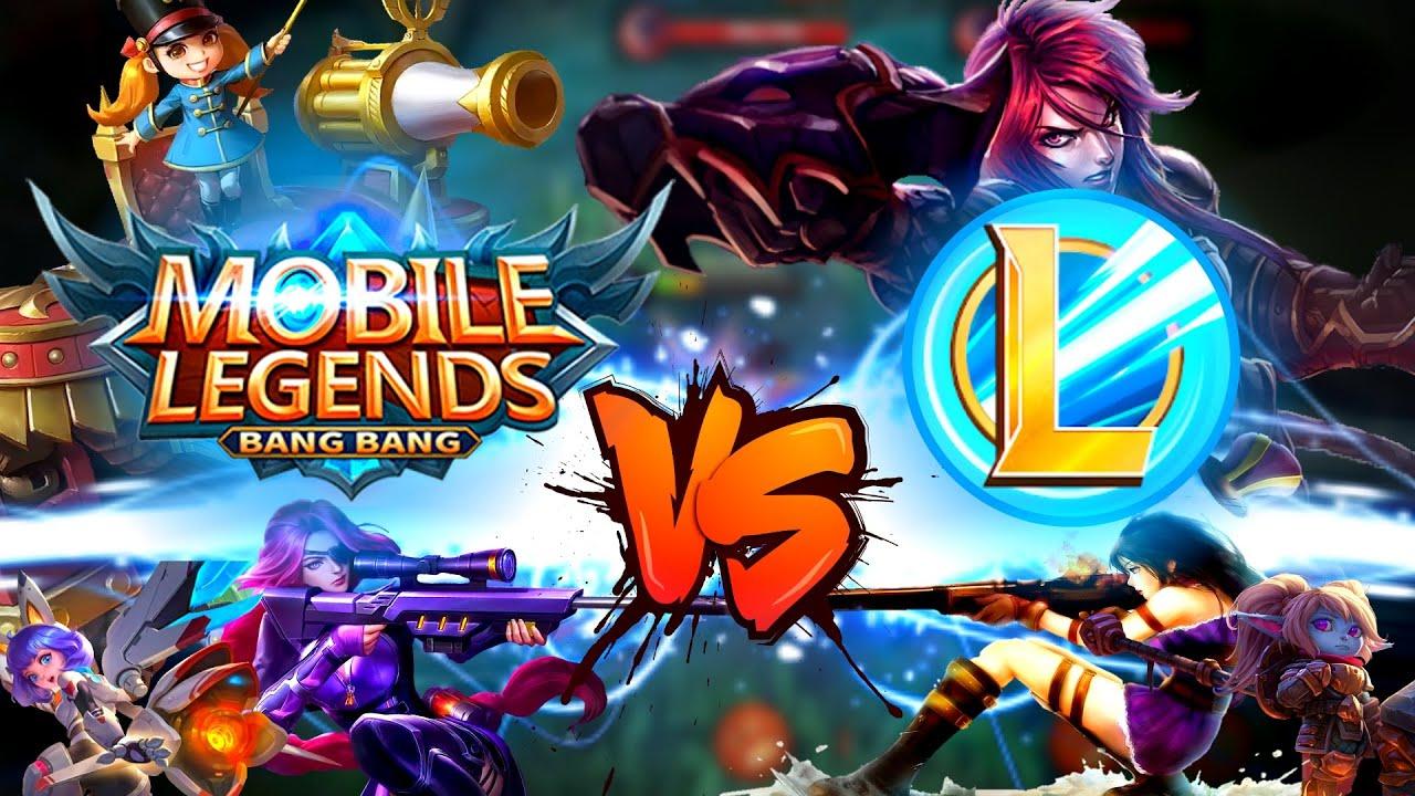 MOBILE LEGENDS BANG BANG VS LEAGUE OF LEGENDS WILD RIFT ...