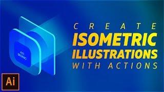 إنشاء متساوي القياس التوضيحية باستخدام الإجراءات في Illustrator CC 2017