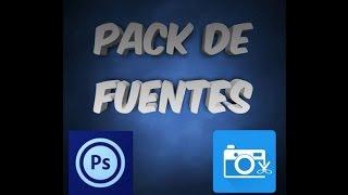 Pack de 15 fuentes de letras para photo editor y photoshop touch
