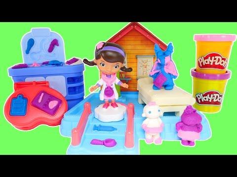 Doc McStuffin Play Doh Doc's Clinic Disney Junior Playdough Toys Doctora Juguetes Plastilina