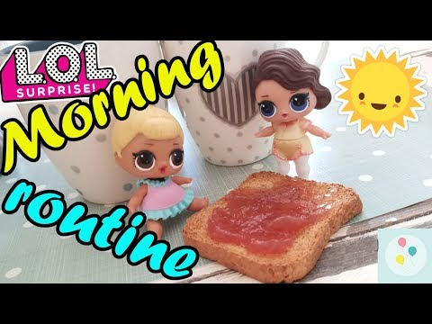 La MORNING ROUTINE delle LOL SURPRISE: SIS SWING e POSH! | Scarta Regali