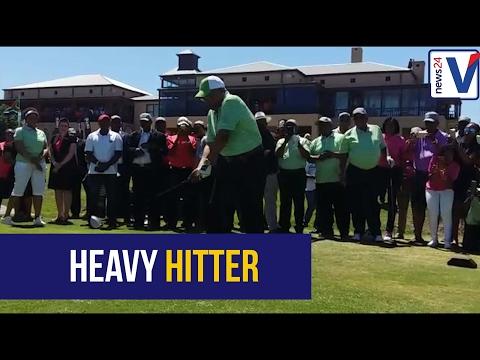 President Jacob Zuma tees off