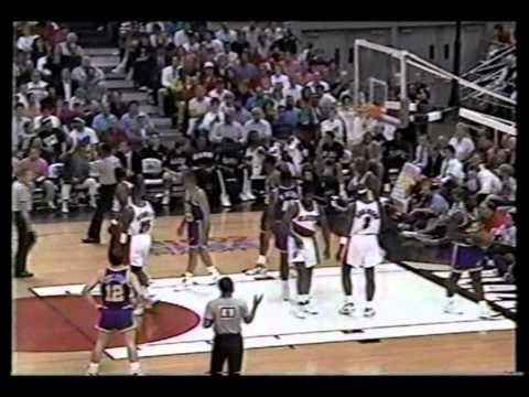 Terry Porter (41pts), Clyde Drexler (36pts), Vs Utah 1992 Playoffs